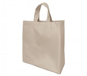 Bavlnená taška s dnom a bokami natural