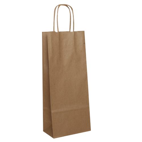 fc0fa3e9bb Papierová taška na víno 16 x 8 x 39 cm natural