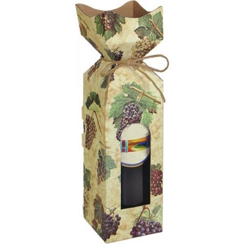 Krabica na víno s motívom hrozna