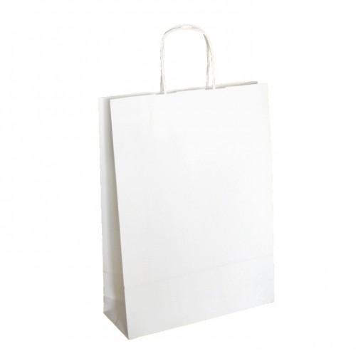 Papierová taška Kraft Classic biela