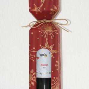 Vianočná krabica na víno