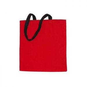 Bavlnená taška Standard červená s čiernymi ušami