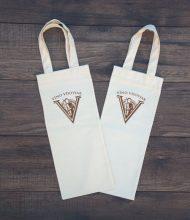 Bavlnená taška na víno gramáže 145 g/m2, Pantone potlač sieťotlačou vodou riediteľnou eko farbou