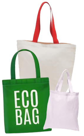 Široký výber ekologických tašiek (rôzne gramáže, materiály a farby)