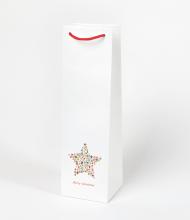 Vianočná taška na víno s hviezdou