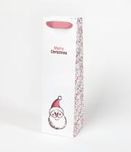 Vianočná taška na víno so santom