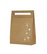 Vianočná taška hviezdy strieborné metalické