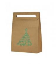 Vianočná taška strom zelený metalický
