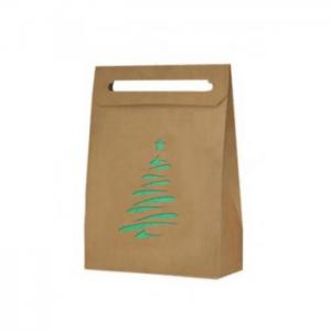 Vianočná taška stromček zelený metalický