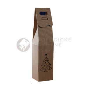 Vianočná krabica na víno so stromčekom