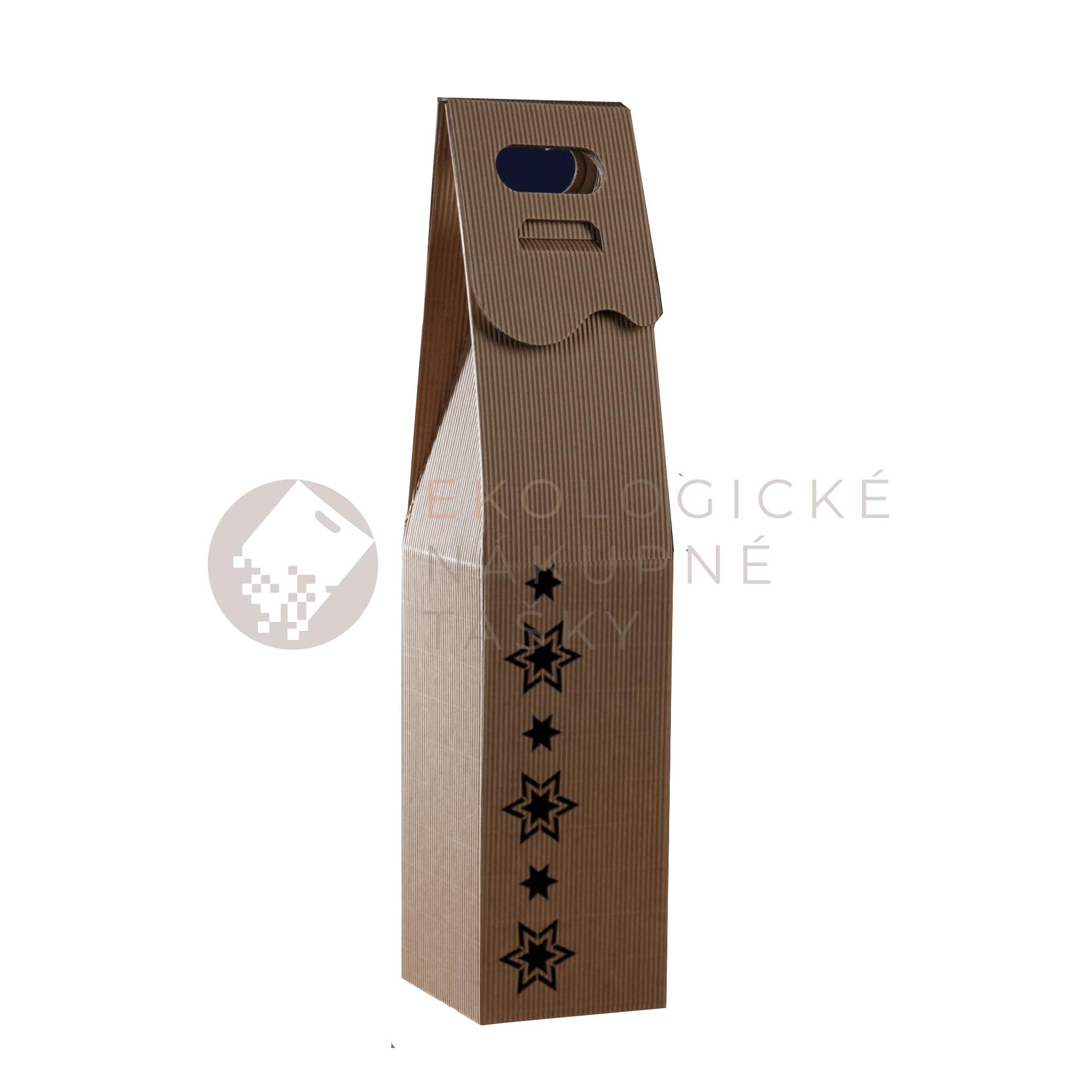 Vianočná krabica na víno s hviezdami