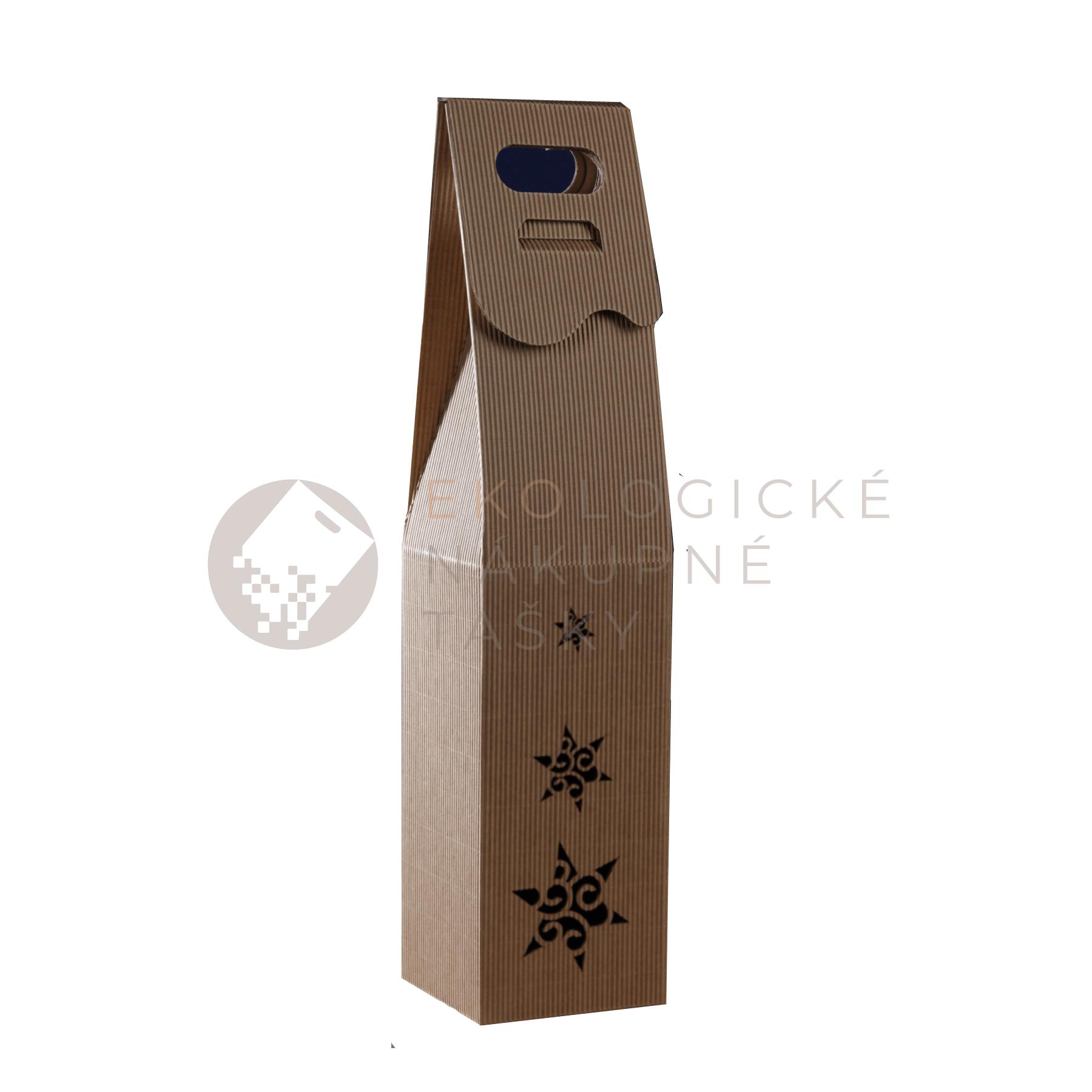 Vianočná krabica na víno hviezdy