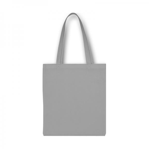 Svetlá sivá bavlnená taška