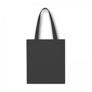 Tmavo šedá bavlnená taška