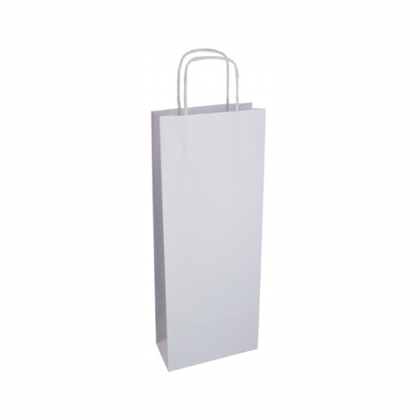 Papierová taška na víno biela