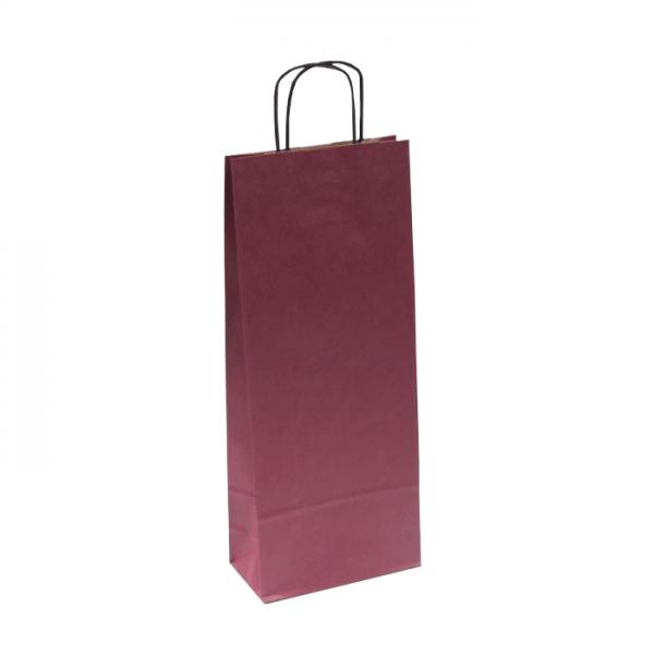 Papierová taška na víno bordová