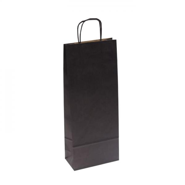Papierová taška na víno čierna