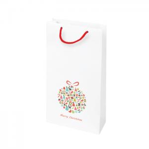 Papierová taška na 2 fľaše vína Kraft Premium