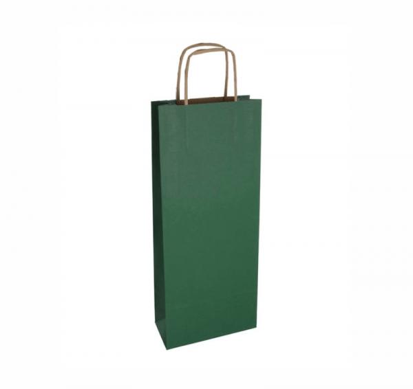 Tmavá zelená taška na víno