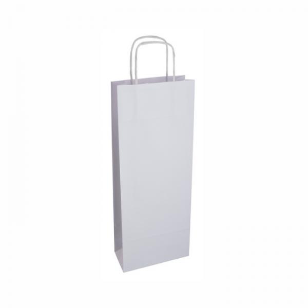 Biela papierová taška na víno
