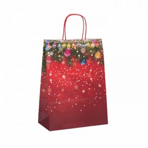 Vianočná papierová taška Dekor