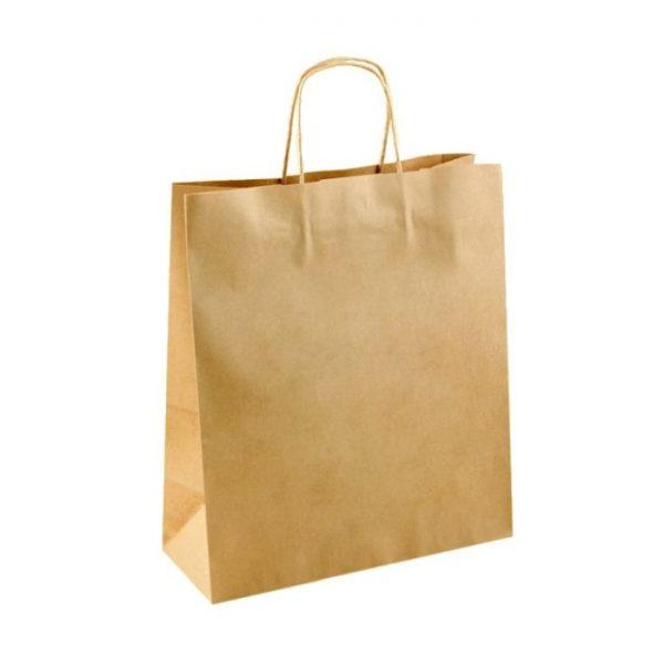 Papierová taška Kraft Classic hnedá